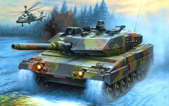 танк, рисунок, вертолет, основной, боевой, enzo, maio, leopard, германия, картинка, картинку, бундесвер,