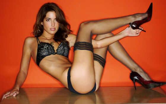sarah, karges, sexy, girls, pack, stockings, black, hot,