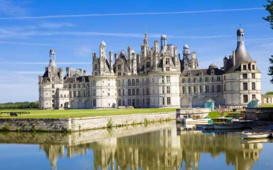 замок, замки, шамбор, шато, chambord, chateau, взгляд, франция, качественных, старинные,