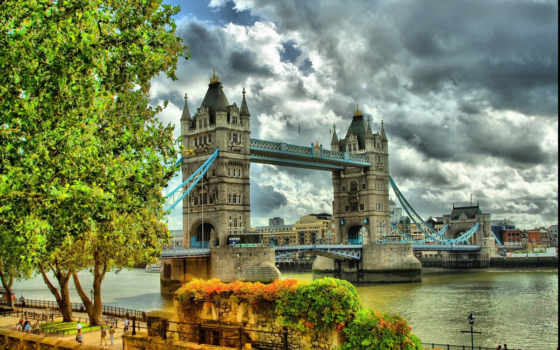 мост, тауэр, london, город,