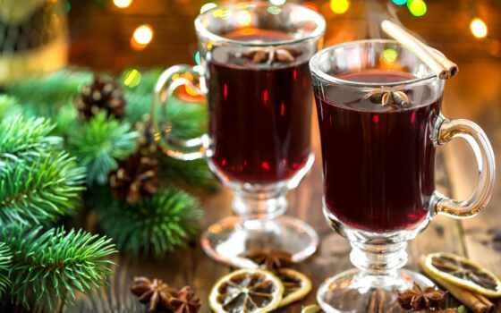 глинтвейн, anise, напиток, вино, winter, lemon, палочки, год, new, пряности, cinnamon,