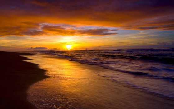 закат, море, рассветы, закаты, пляж, природа, небо, landscape, пляже, горизонт,