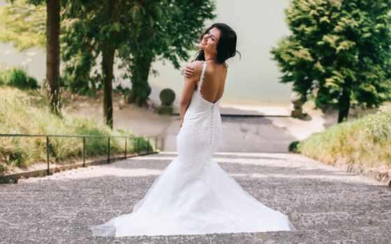 платье, свадебный, девушка, коллекция, see, brunette, невеста