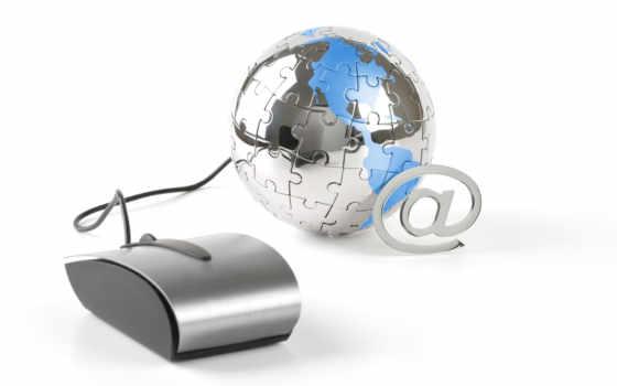 computer, globe