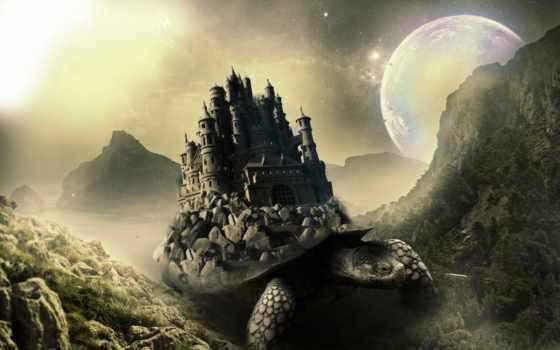 fantasy, castle, castles, горы, фантастика,