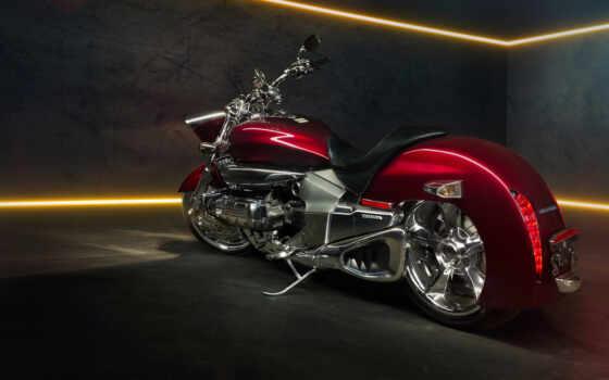 honda, rune, valkyrie, мотоцикл, red