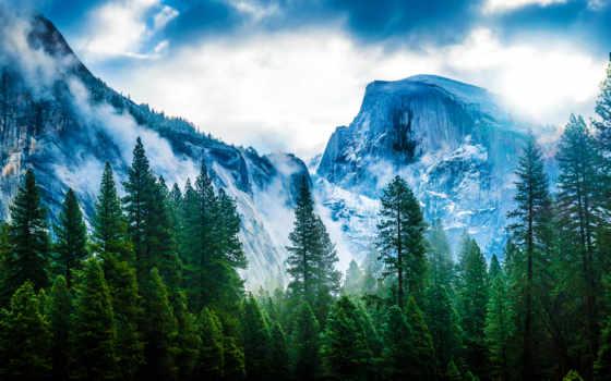 горы, природа, reki