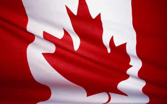 канада, фон, флаг