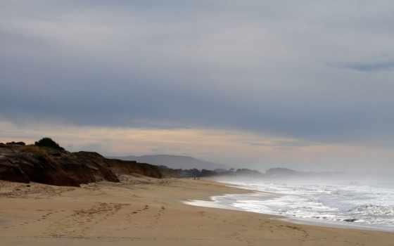 ocean, plage, desktop, free,