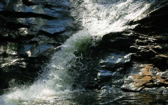 лицо, природа, rock, река, cool, дерево, landscape, водопад