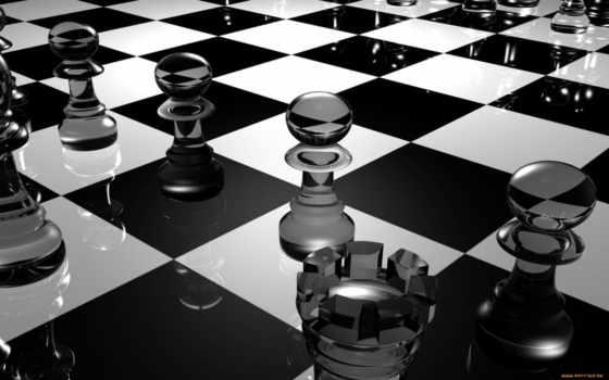 доска, шахматная, шахматы, desktop, стекло, рендеринг,