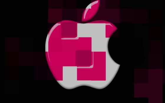 cubes, apple