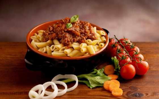 блюда, еда, вторые, макароны, помидоры,