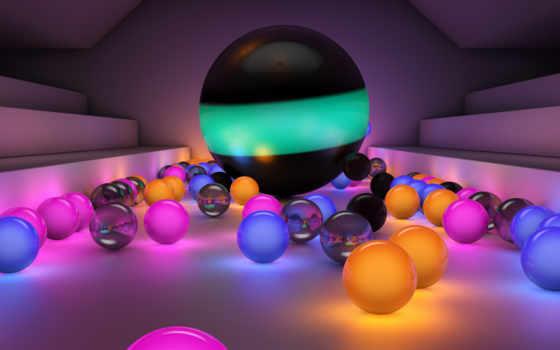 шары, светящиеся, разноцветные,