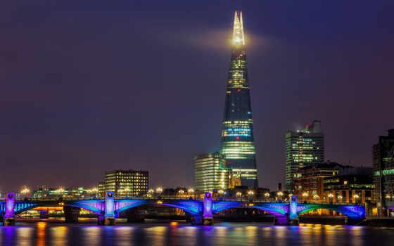 мост, великобритания, городами, great, англия, ук, london, черепок,
