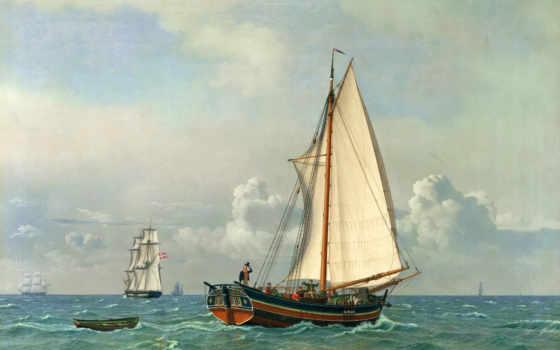 wilhelm, christoffer, eckersberg, море, art, вильхельм, кристоффер, canvas, als, эккерсберг,