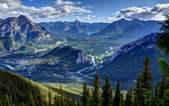 banff, гора, sulphur, national, park, альберта, see, тыс,