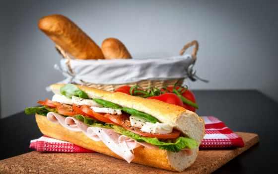 бутерброд, курица, sandwiches