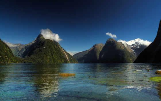 озеро, природа, подборка, страница, темы, качества, новая, природы, zealand,