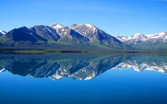 природа, озеро, горы, landscape, лес, отражение, красивые, горное, lenovo, заставки, музыка,
