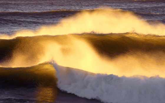 форт, stevens, park, state, прилив, закат, красивый, rolling, oregon, пляж