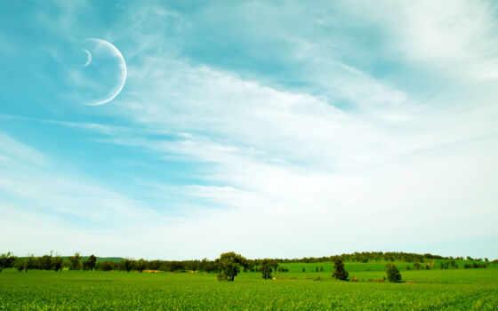 уж, summer, blue, небо, ну, фон, pack, loaded, луна, best