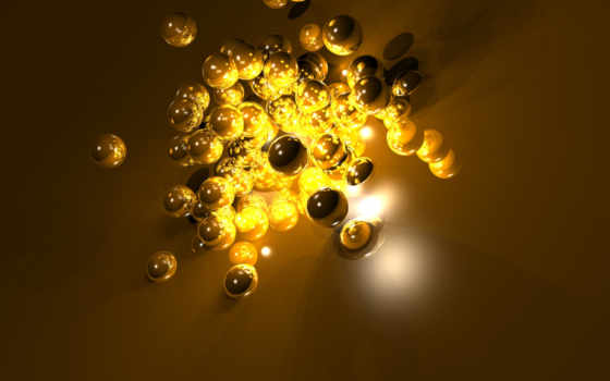 абстракция, шарики, golden, köylüleri, sarı, boncuklarla, графика, поверхность, dolandırdılar, свет,