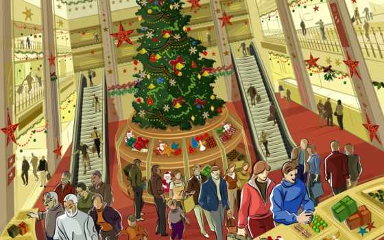 shopping, christmas,