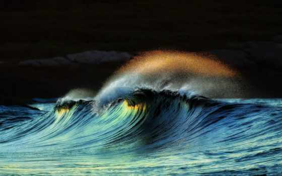 ocean, буря, волна
