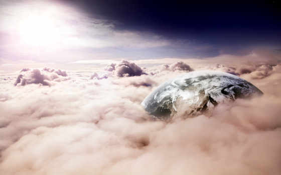oblaka, planet, небо