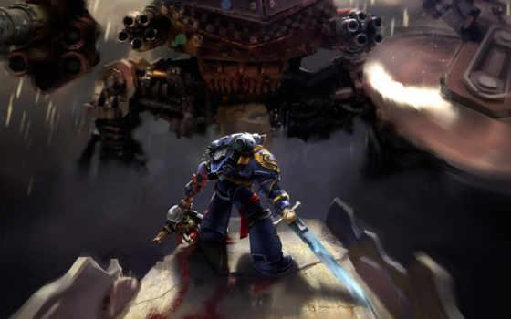 warhammer, космос, marine, ultramarines, ультрамарины,