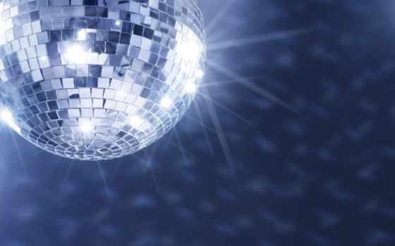 мяч, диско, блики, блики, шара, музыка, сторона,