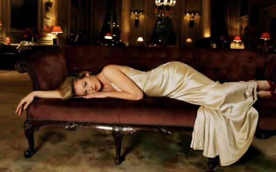 диван, кот, платье, deeley, поза, укладка, ре, red, more, poses, you,