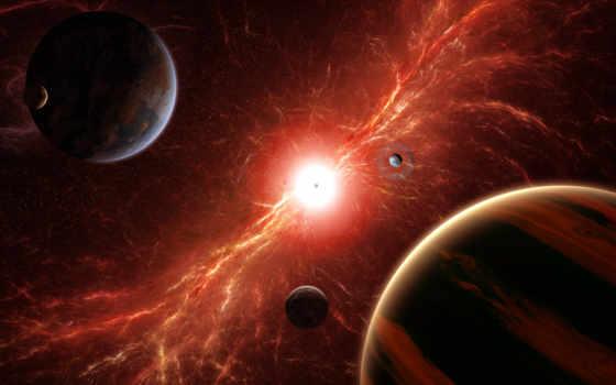 bang, cosmos, star, звезды, планеты, спутники, огонь,