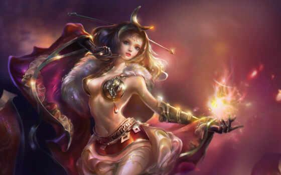 fantasy, девушка, rong, pazlyi, перчатка, лес, fentezti, art, арта, магия