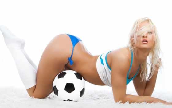 девушки, спорт, футбол