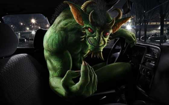 за, рулём, демон, monster, art, abyss, avatars, fantasy,