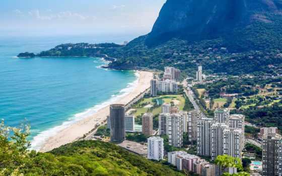рио, жанейро, море, brazilian, janeiro, rio, бразилии, дома, город, песок,