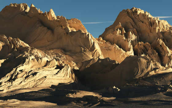 горы, панорама, свет, солнечный, небо, пустынные, жизни, пустыни, oblaka,