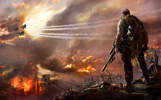 sniper, warrior