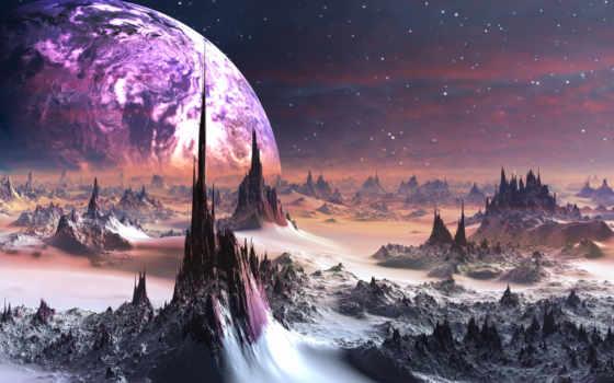 планеты, гладь, фантастика