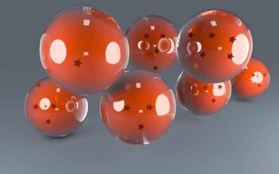 оранжевые шары