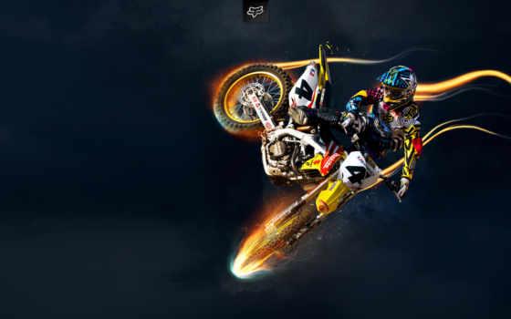мотокросс, мотоциклы, мотоциклист