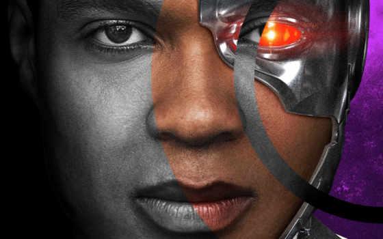 justice, league, fisher, ray, лига, справедливости, cyborg, плакат, фильма,