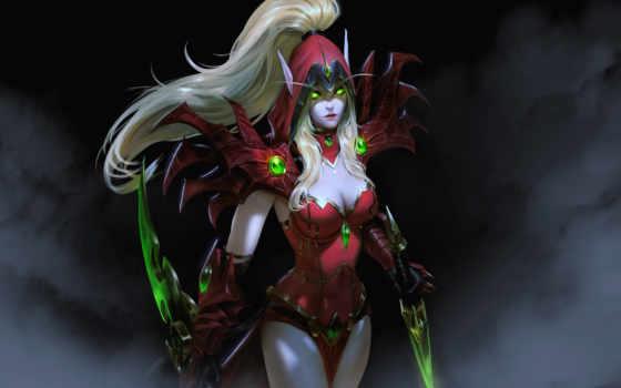 rogue, world, warcraft, wow, эльф, кровь, fantasy, free, valeera, game, девушка