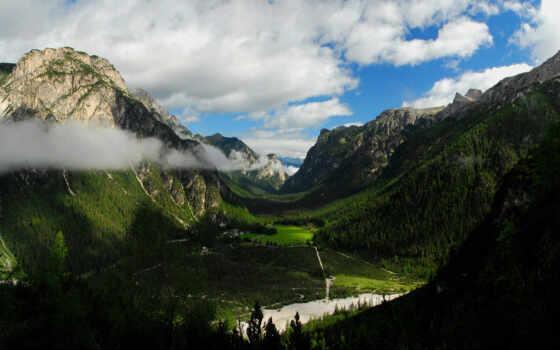 гора, долина, река, картинка, strange, пустыня, rock, red, природа, фото
