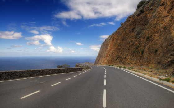 дорога, гора Фон № 8254 разрешение 2560x1600