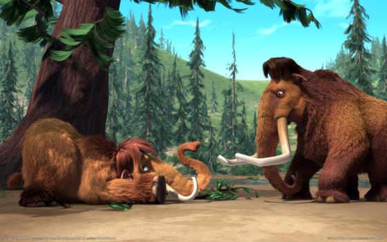 ice, age, мамонты, период, бивни, мультфильм, мэнни, элли, manny, мамонт, девятитонный, десятитонный, картинку, ледникового, опоссум, desktop, периода,