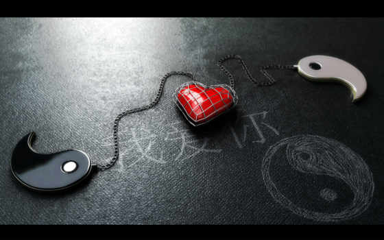yang, yin, heart, with, red, ipad, love, google, chained,