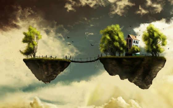 facebook, floating, para, bridge, подборка, between, two, islands, creativas, portada, isla, island, portadas, фэнтези,